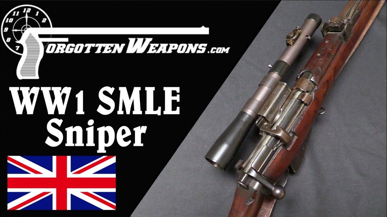 British World War One SMLE Sniper Rifle