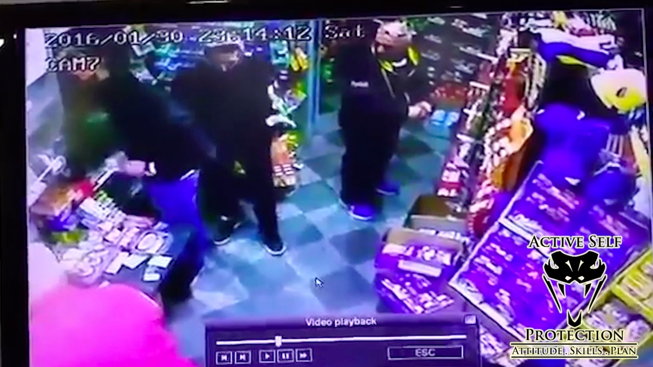 Bystander Takes Armed Robbers Out   Active Self Protection