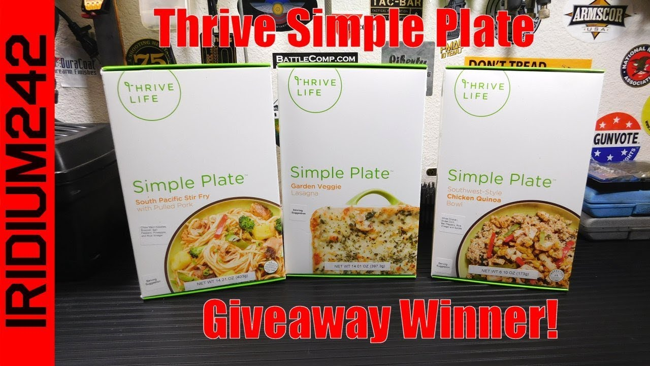 Thrive Simple Plate Giveaway Winner!