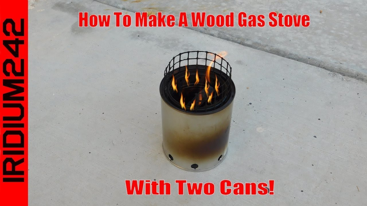 Make A Wood Gas Stove With Only Two Cans