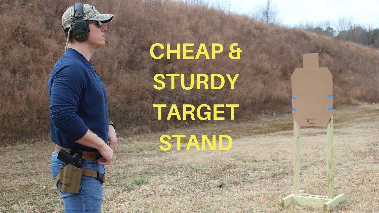 CHEAP HomemadeTarget Stand Build | DIY