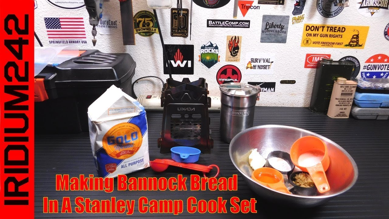Making Bannock Bread In A Stanley Camp Cook Set