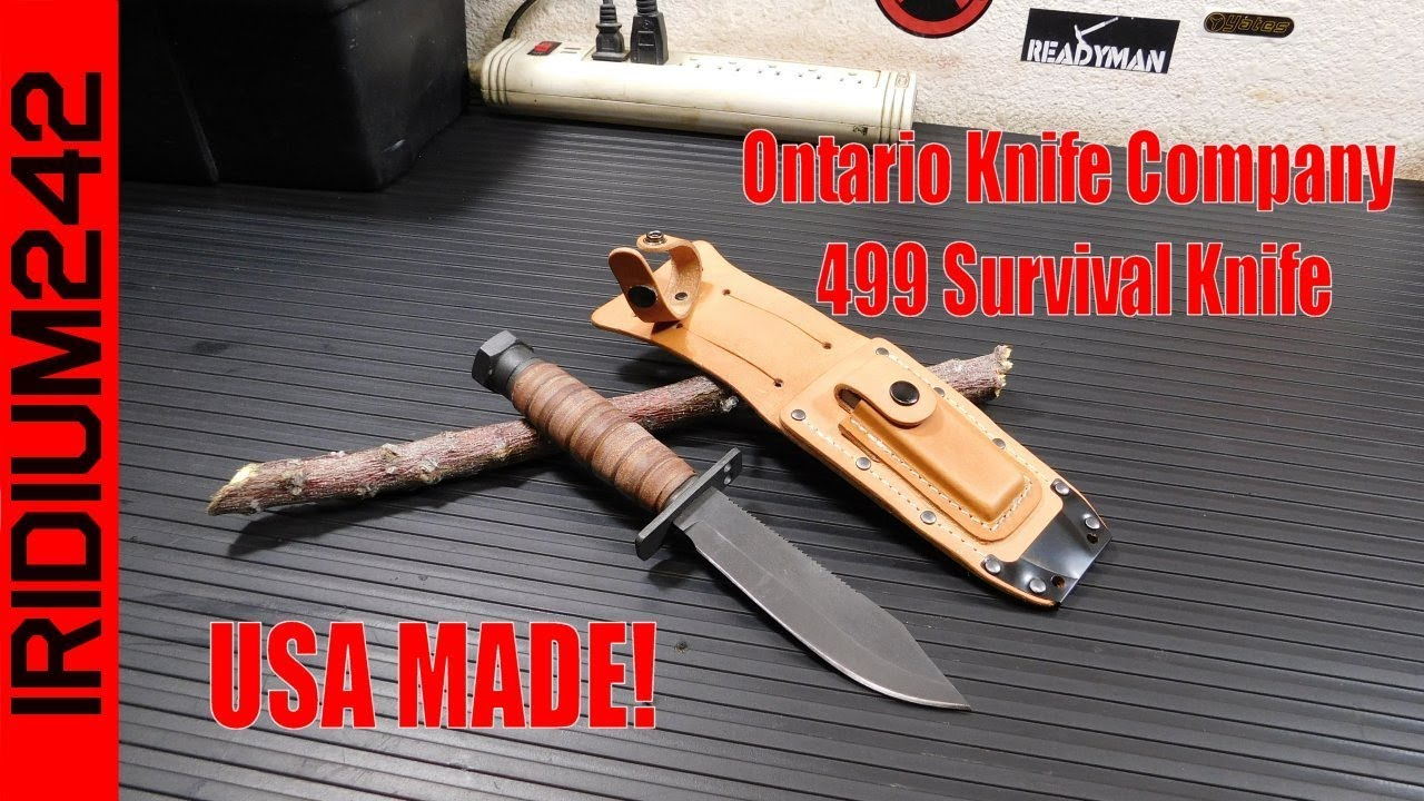 Ontario Knife Company 499 Survival Knife USA MADE!