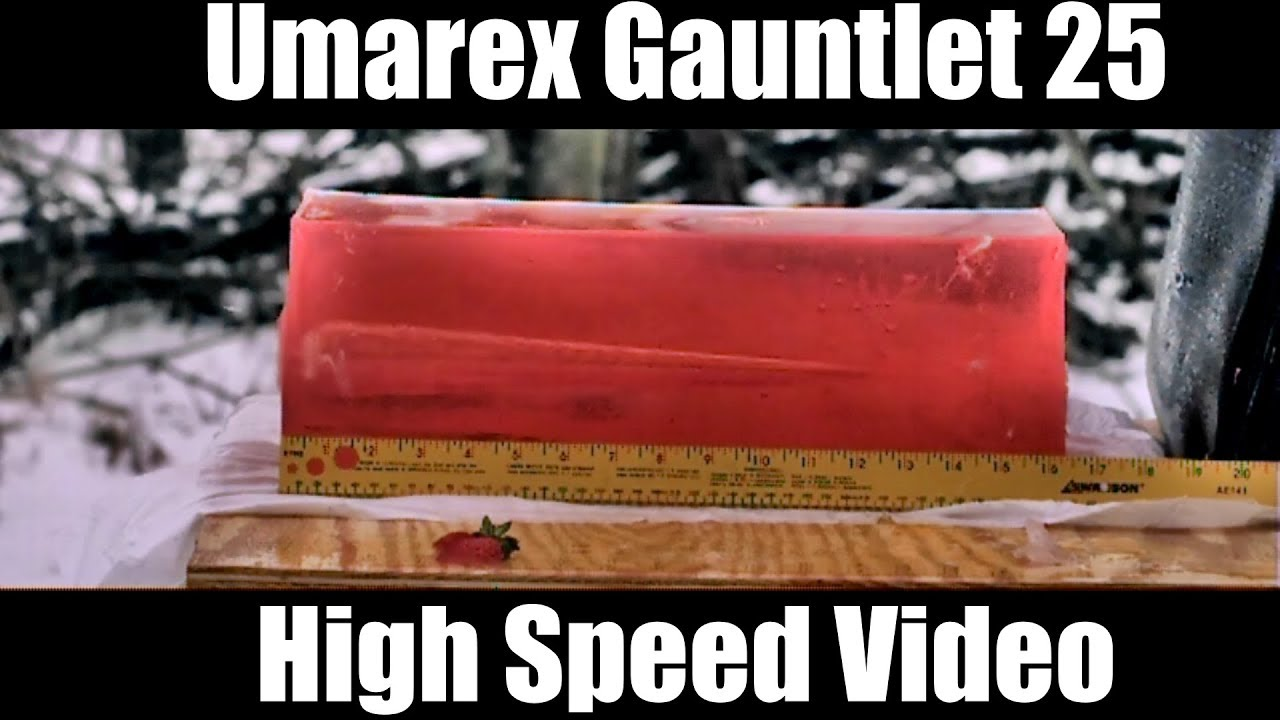 Umarex Gauntlet 25 Pellet Rifle High Speed Slo Mo Video Shots
