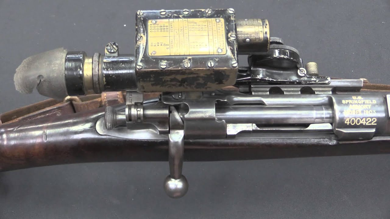 M1903 Sniper Rifle with Warner & Swasey M1913 Musket Sight