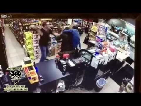 Customers Take Down Armed Robber