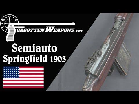 Experimental Primer-Actuated Semiauto Springfield 1903