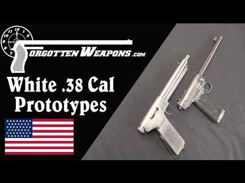White Experimental .38 Caliber Automatic Pistols