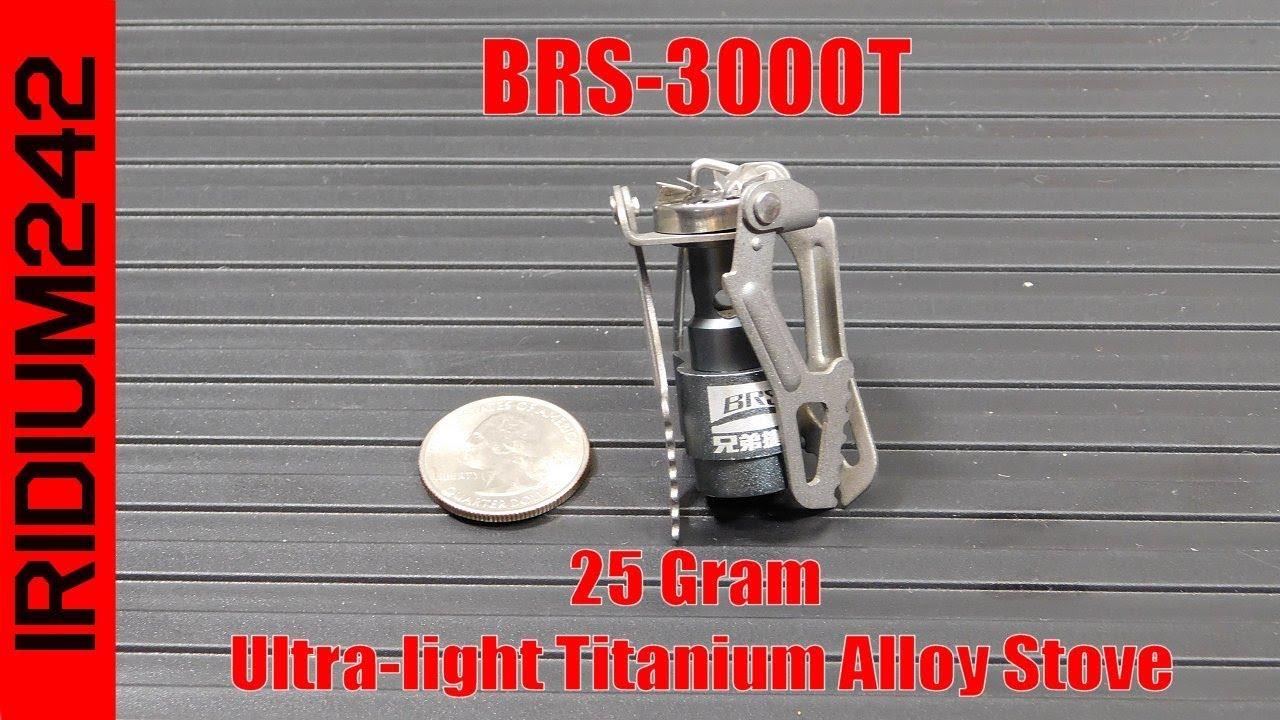 BRS 3000T Ultra light Titanium Alloy Stove