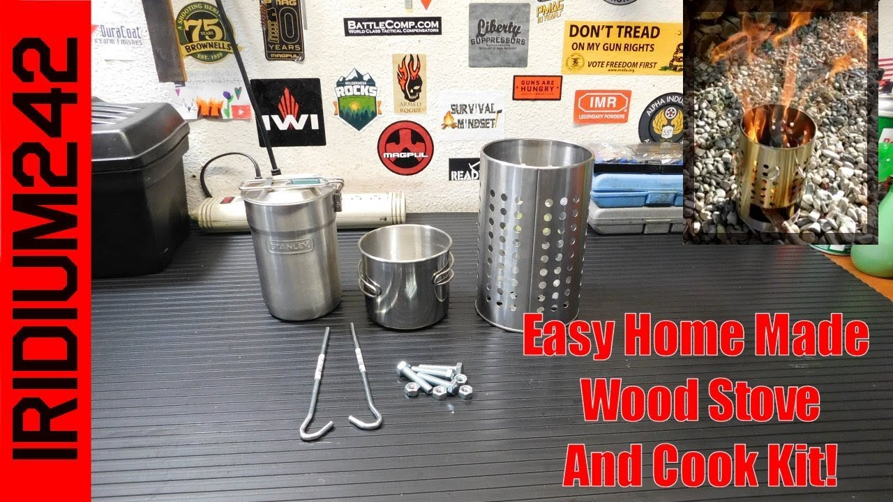 Easy Home Made Wood Stove And Cook Kit