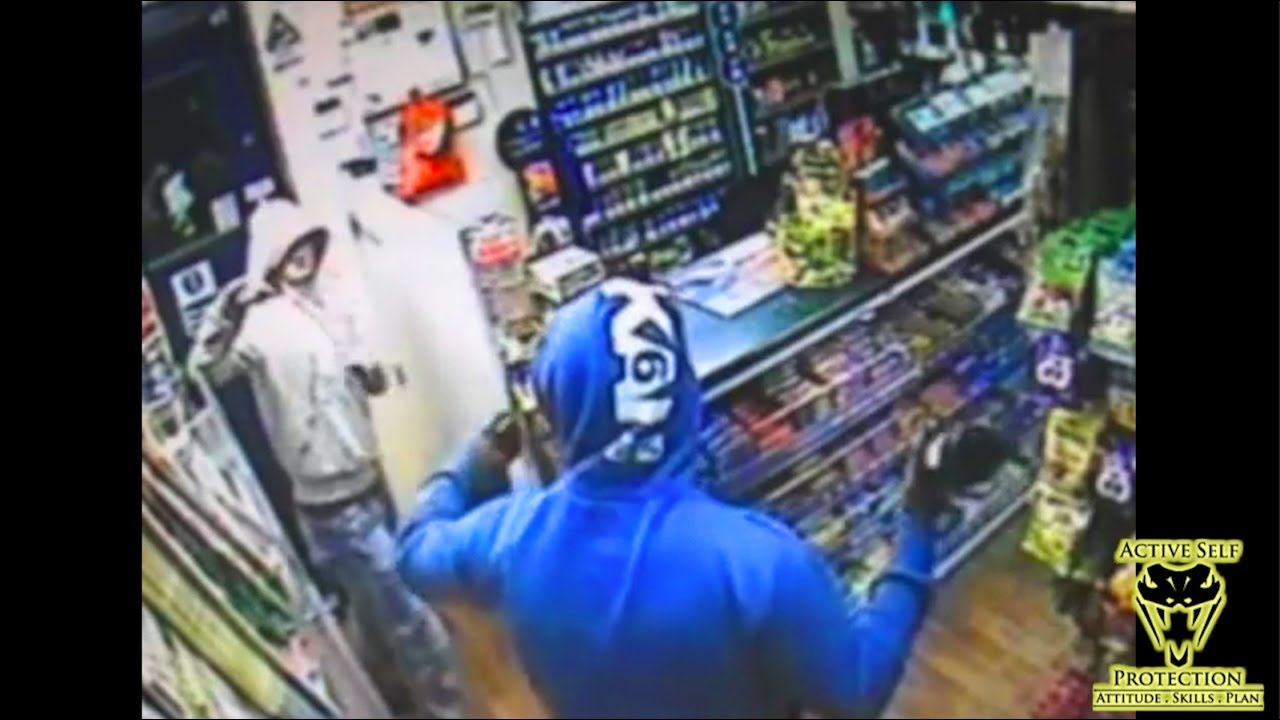 Clerk Fends Off Armed Robber by Using Wine Bottle   Active Self Protection
