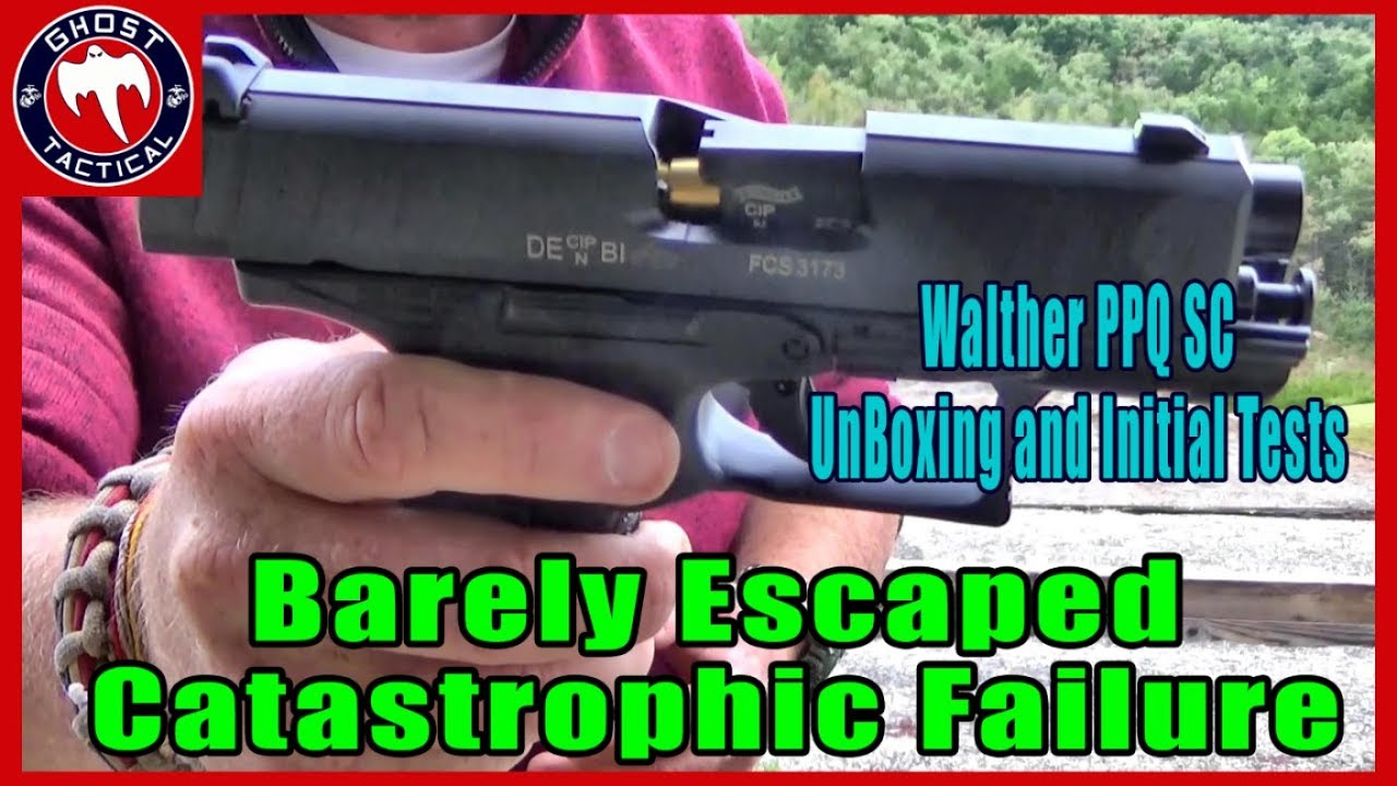 WHAT'S IN THE BOX?  Walther PPQ SC (Sub-Compact) Unboxing, Barely Escaping a Catastrophic Failure!