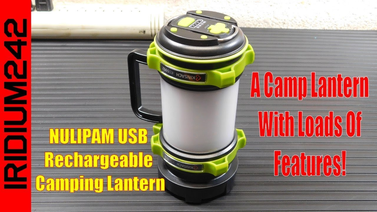 NULIPAM USB Rechargeable Camping Lantern: Loads Of Features!