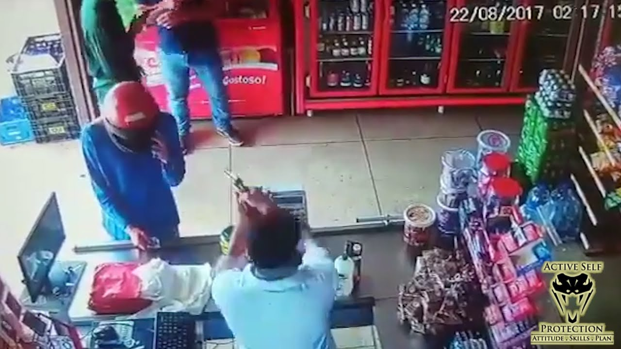 Store Owner Gets the Drop on Robbers | Active Self Protection