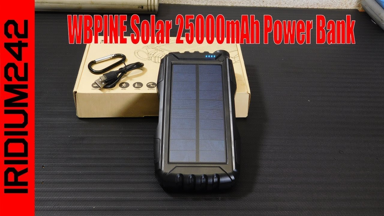 WBPINE Solar 25000mAh Power Bank: Loads Of Power!