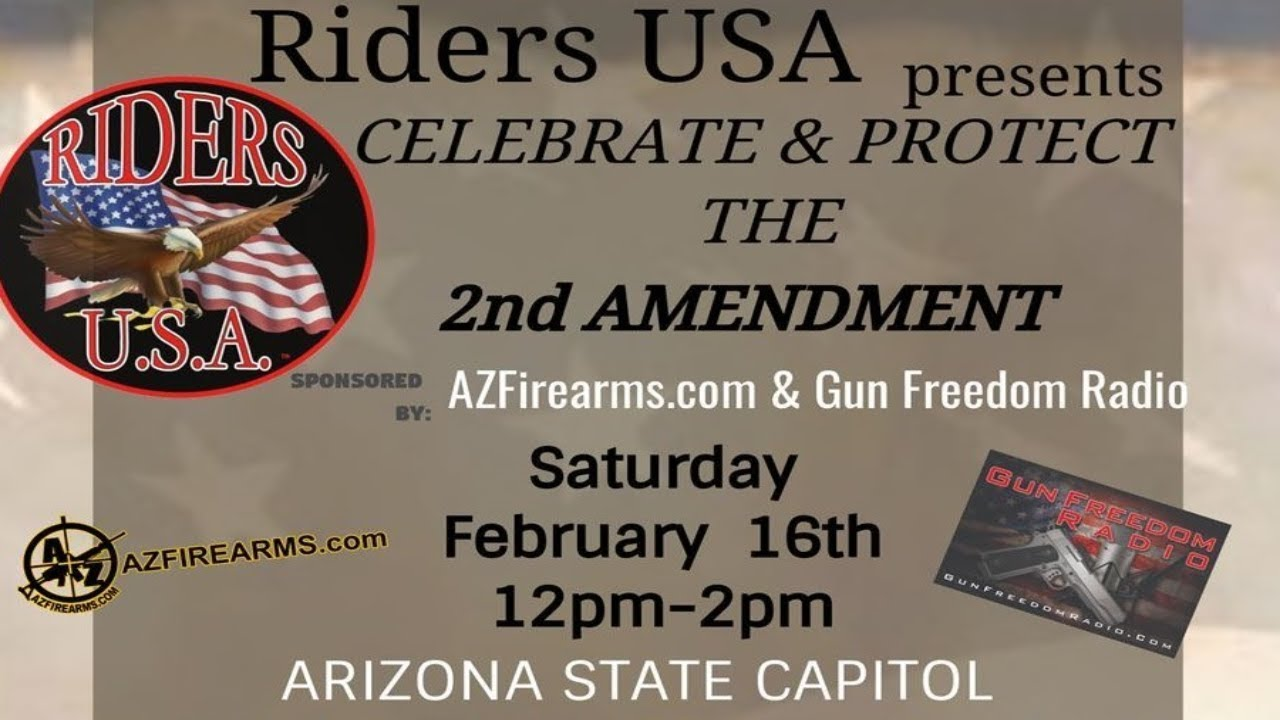 2A Rally in Phoenix, this Sat Feb 16th at the Arizona State Capitol