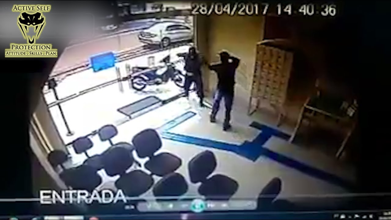 Guard Fights For His Life Against Multiple Robbers | Active Self Protection