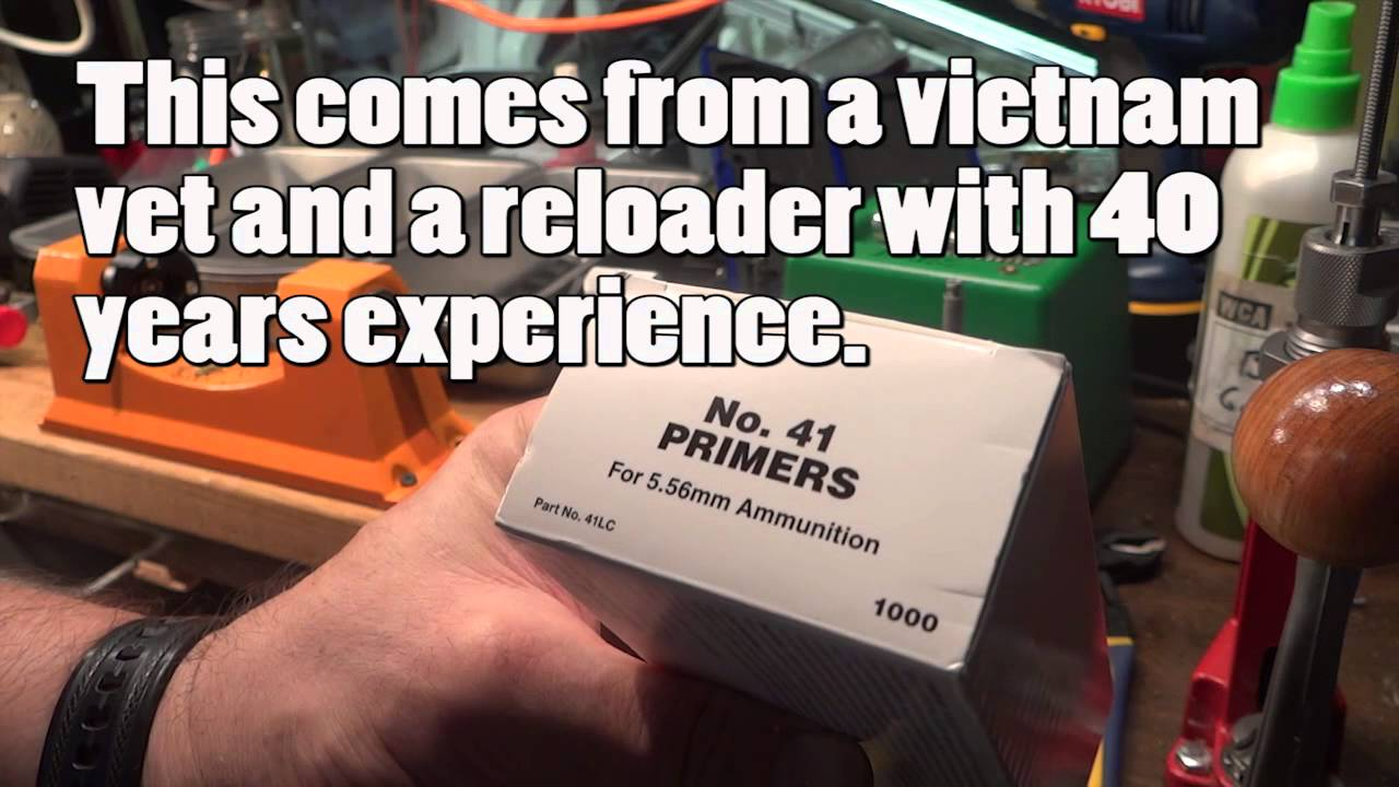 Reloading:   Reloaders - Use Milspec #41 Primers for AR 15's and the 223/5.56/300 Blackout Ammo