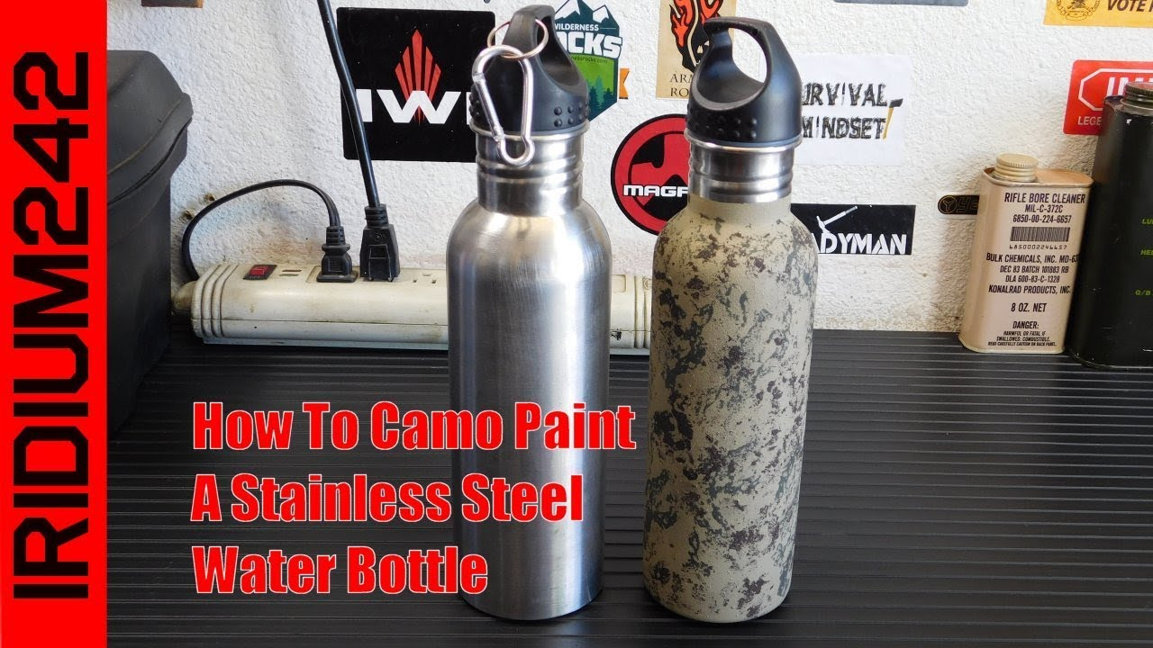 How To Sponge Camo A Stainless Steel Water Bottle