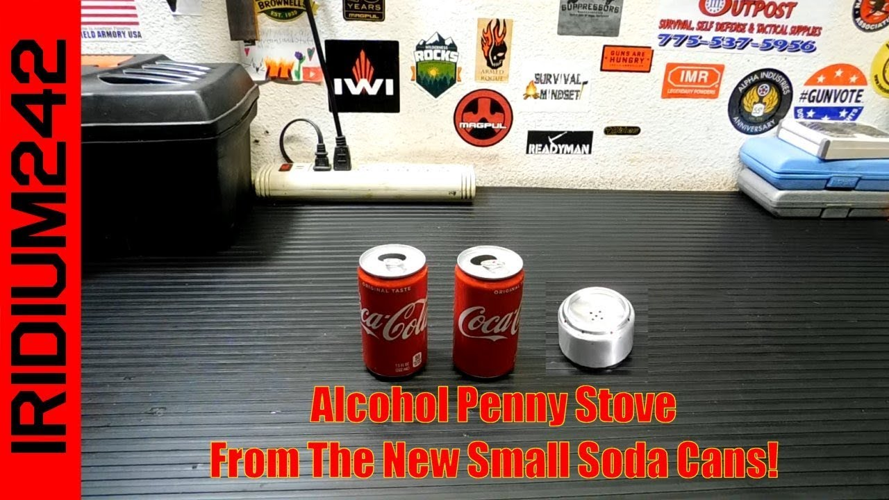 Penny Alcohol Stove Made From Small Soda Cans!