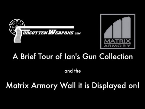 Some of Ian's Gun Collection, on a Matrix Armory Display Wall