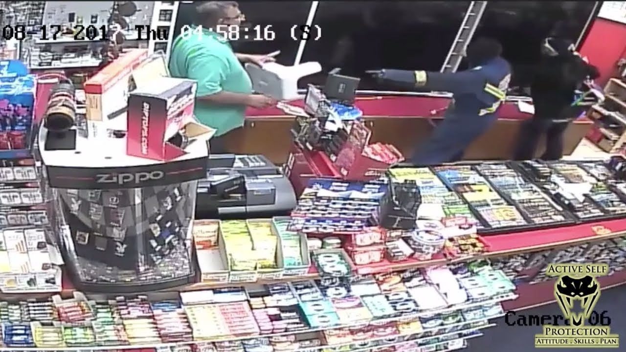 Clerk Gives Armed Robbers What For | Active Self Protection