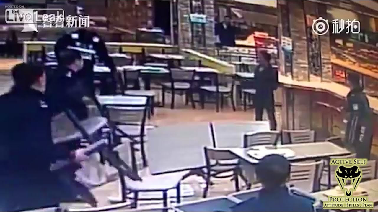 Attack Caught on Camera Teaches Principles of Knife Defense | Active Self Protection