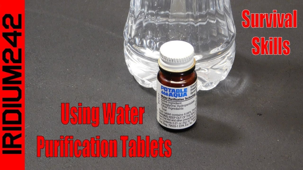 Survival Skills   Using Water Purification Tablets