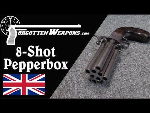 Oversized 8-Barrel British Pepperbox Revolver