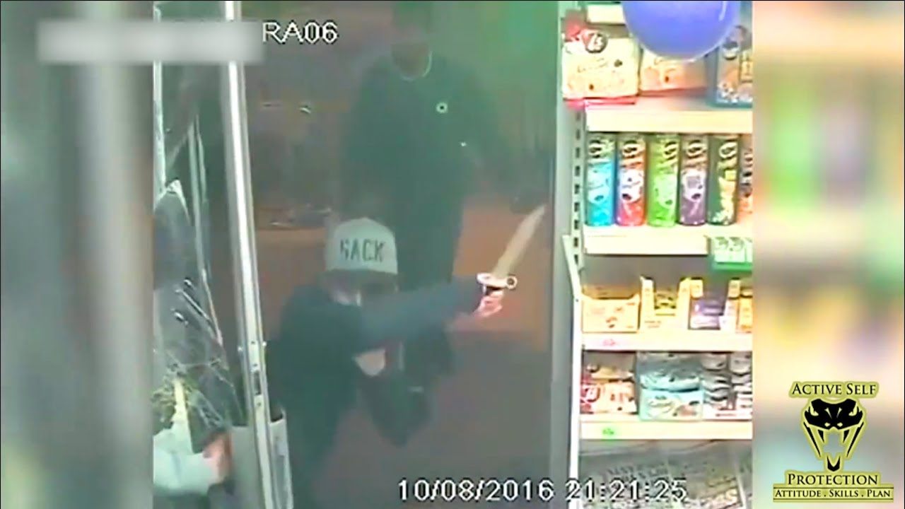 Unsuccessful Knife Attack Caught On Camera | Active Self Protection
