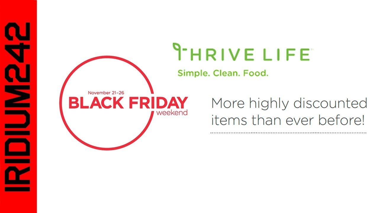 ThriveLife Black Friday Sale 2018