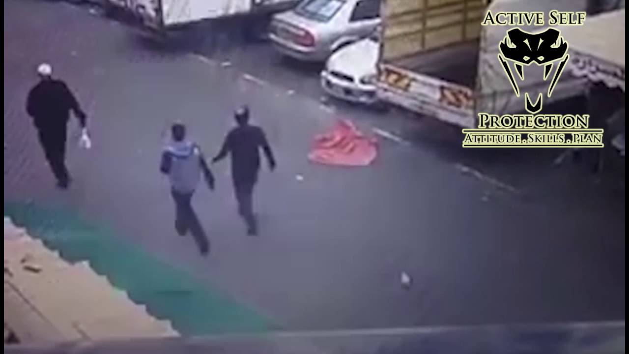 Two Armed Men Stop Knife Attack Cold