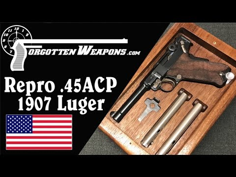 LugerMan Reproduction of the 1907 .45 Test Trials Luger