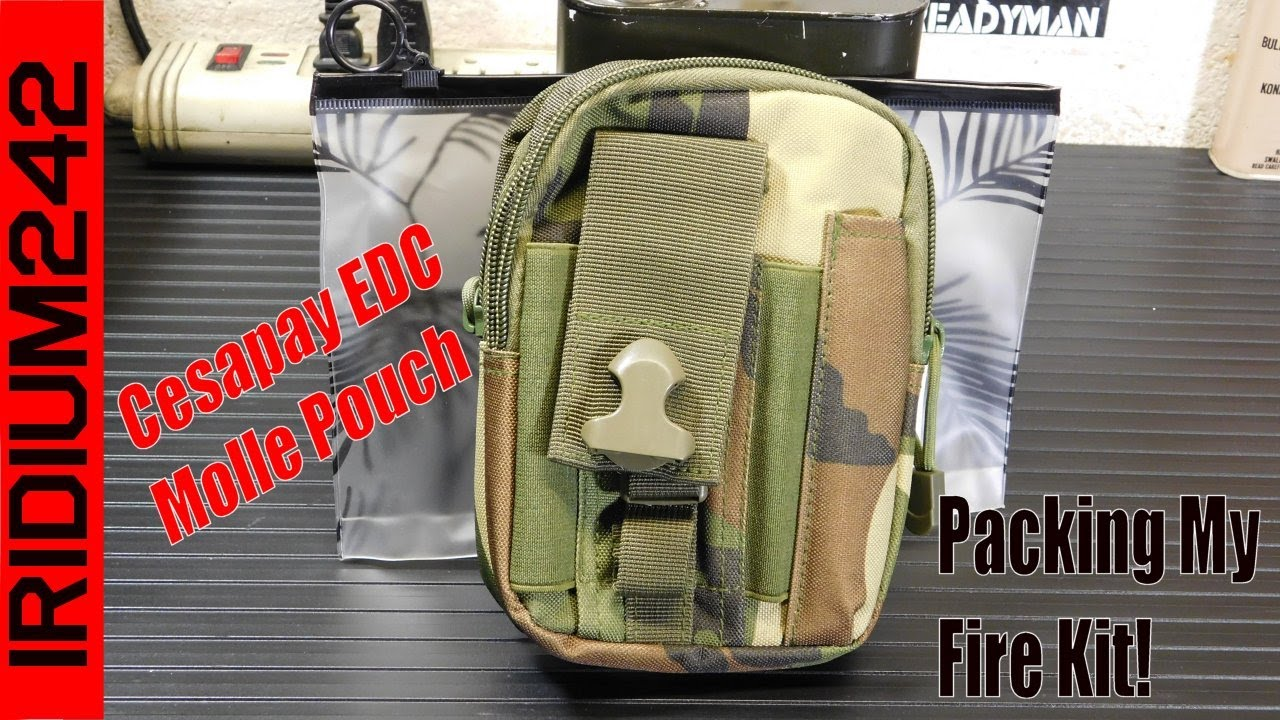 Cesapay Tactical EDC Pouch: My Fire Kit