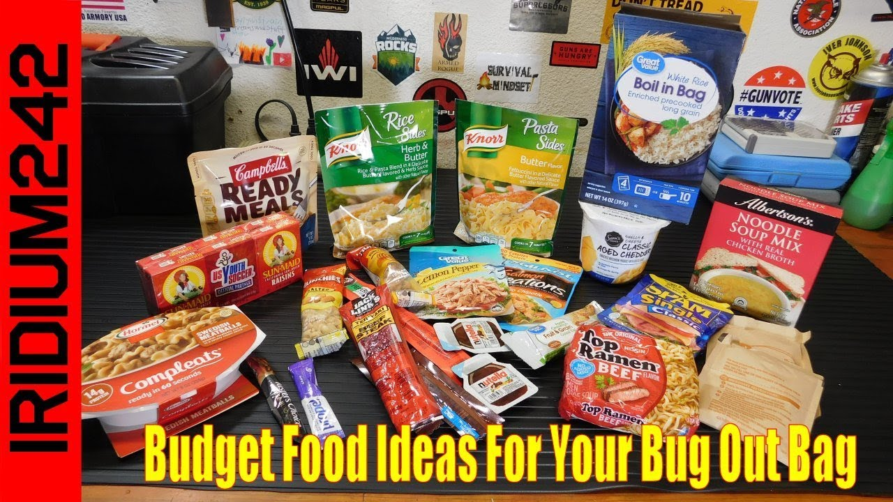Budget Food Ideas For Your Bug Out Bag