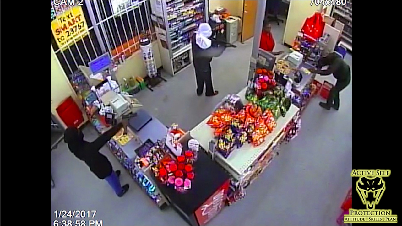 Two Armed Robbers Overwhelm Cashiers | Active Self Protection