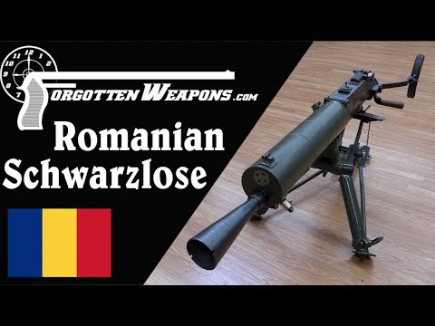 Schwarzlose HMG Converted to 8x57mm by Romania