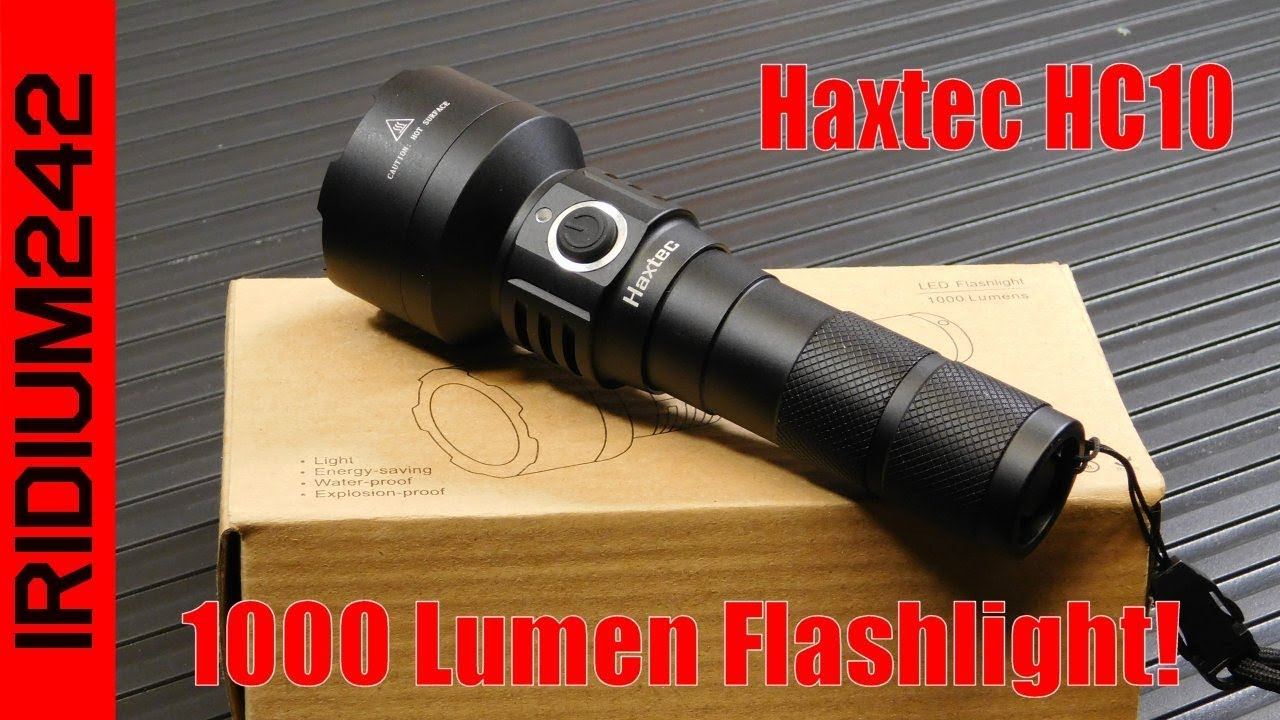 Haxtec HC10 Rechargeable LED Flashlight: Great Budget Item!