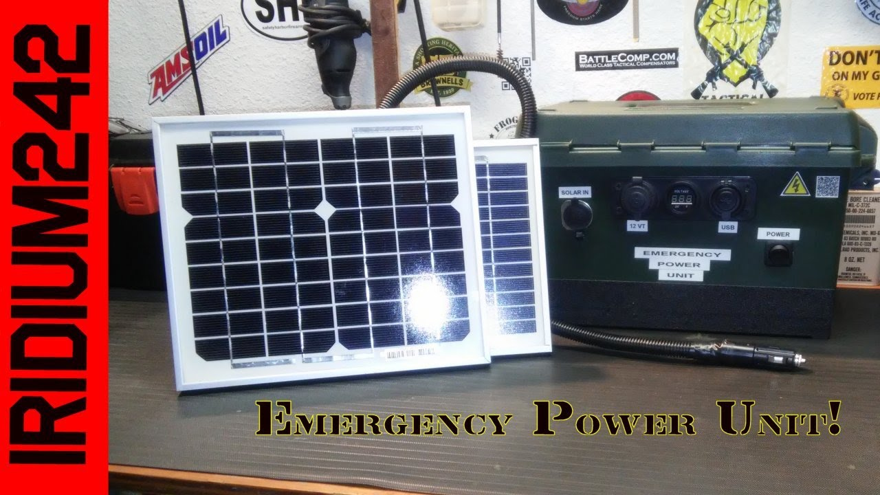 Emergency Solar Power In An Ammo Can