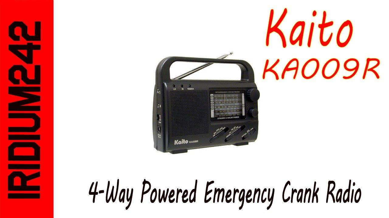 Kaito KA009R 4-Way Powered Emergency Crank Radio