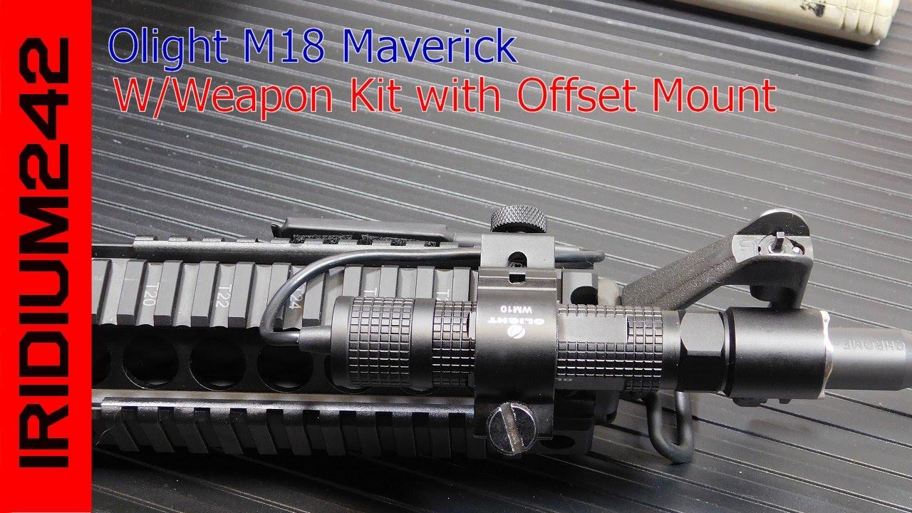 Olight M18 Maverick 500 Lumen Light With Offset Mount Kit