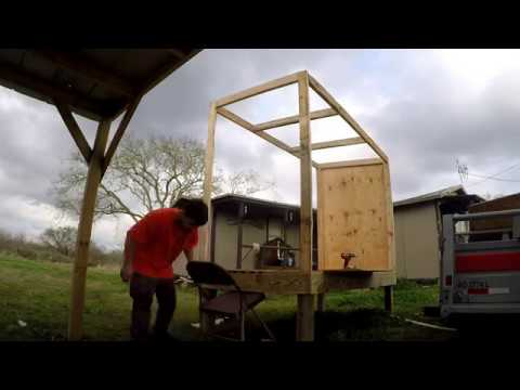 Building a hunting blind for hogs! pt 1