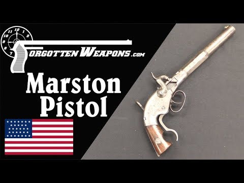 WW Marston Breechloading Pistol and Leather-Base Cartridge