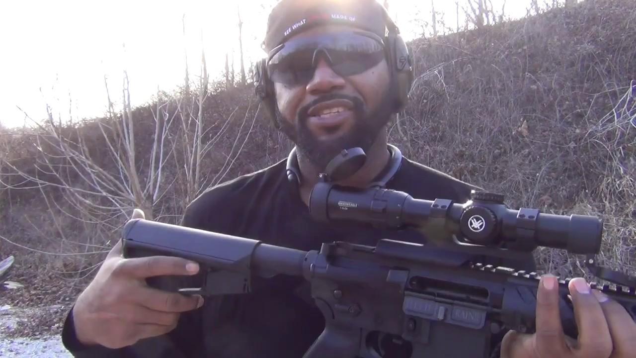 Diamondhead 45 degree off set sights with Magnified Optics
