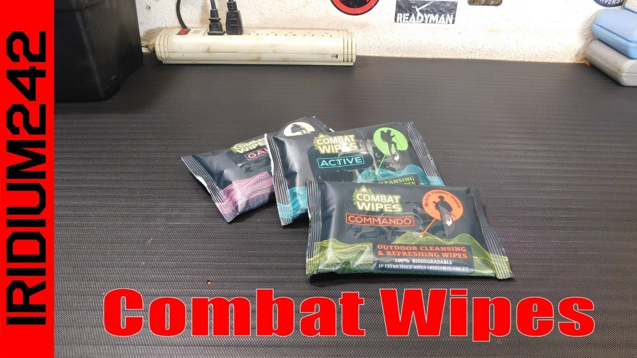Combat Wipes: Clean Up Outdoors!