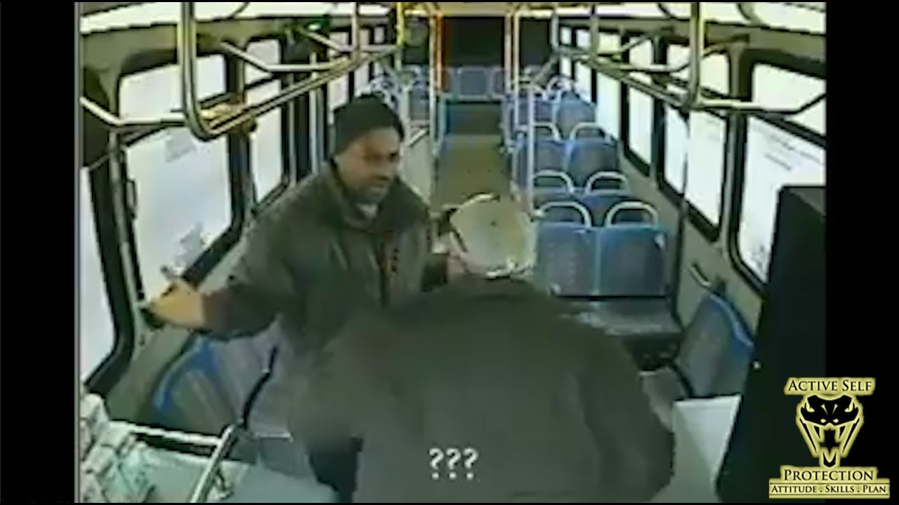 Angry Bus Driver Beats Innocent Passenger | Active Self Protection