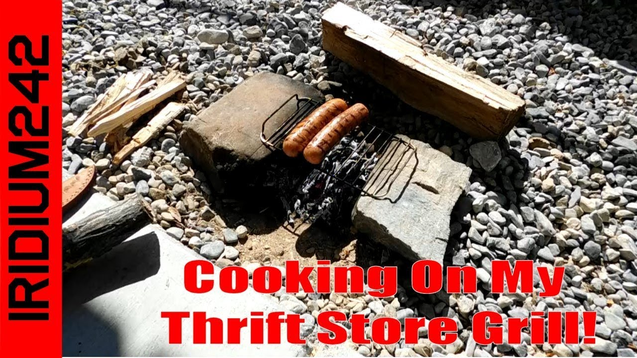 Cooking On My Thrift Store Grill: Works Great!
