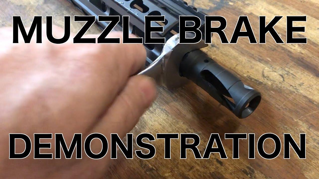 Muzzle Brake/ Flash Hider Combo Device Demonstration