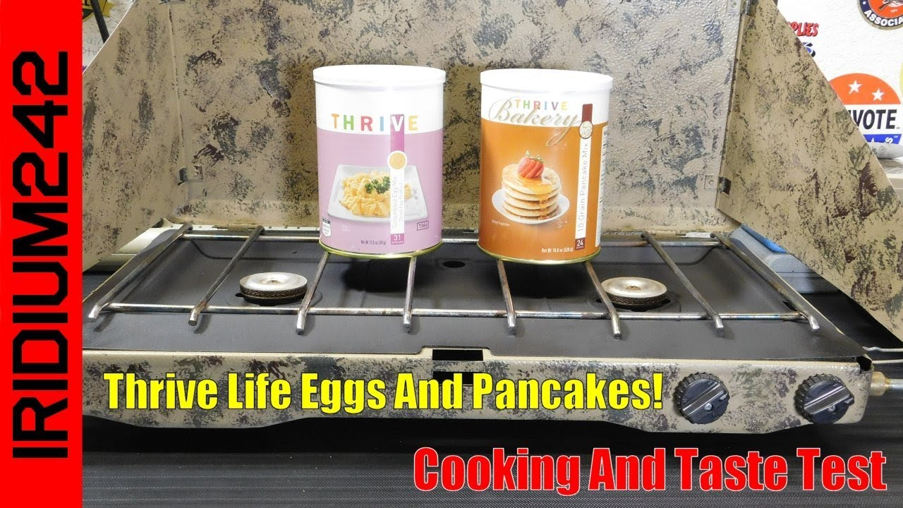 Thrive Life Freze Dried Eggs And Pancakes Breakfast!