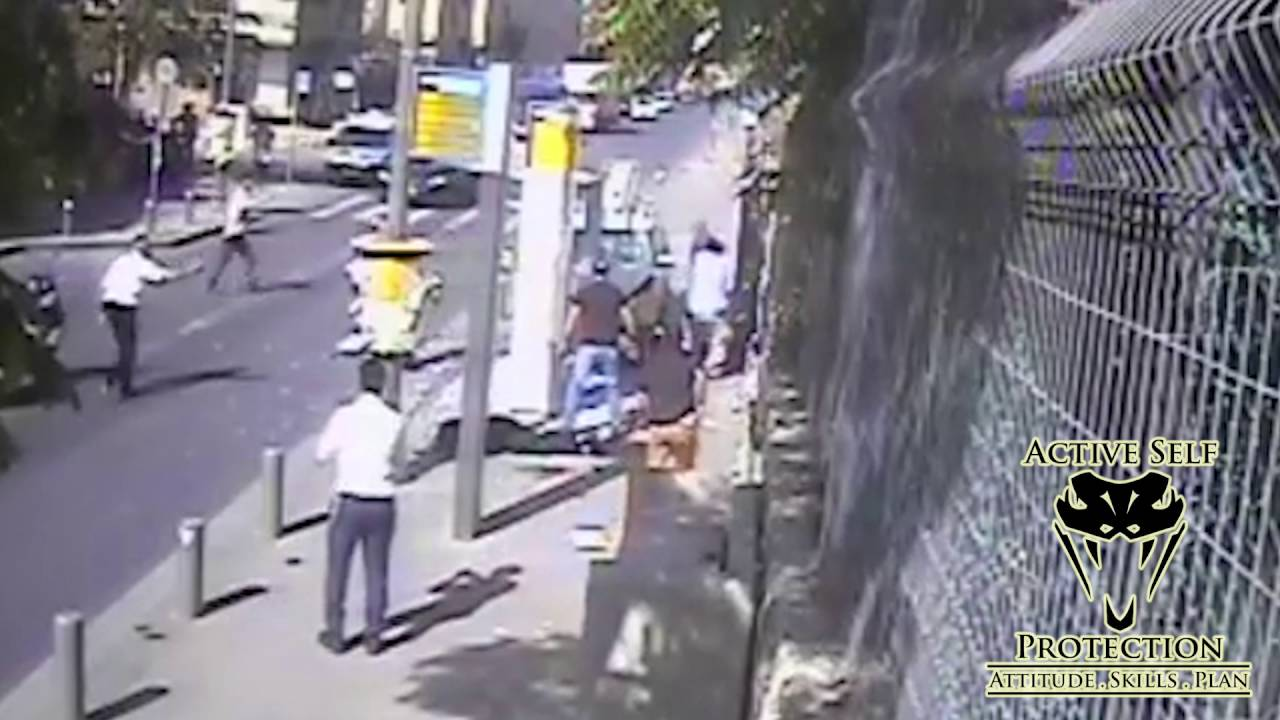 Armed Guard Stops Rampaging Terrorist